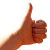 hand doing thumbs up sign